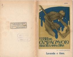 """06108 """"G. VAGLIASINDI - LAVANDA E TIMO -  CASA EDITRICE GFRATELLI OTTAVI - CASALE MONFERRATO - 1912"""" ORIGINALE - Libri, Riviste, Fumetti"""
