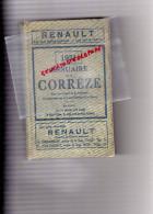 19 - ANNUAIRE DELMAS DE LA CORREZE - 1931- RENAULT- A.DONY-TULLE -BRIVE- + CARTE COULEUR- - Telephone Directories