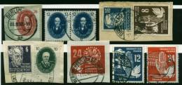 A4108) DDR Kleines Lot Mit Mi.265, 266a (2), 275 Ua. Gestempelt Used / Briefstück - DDR