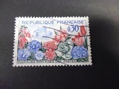 FRANCE TIMBRE OBLITEREYVERT N°1369 - Francia