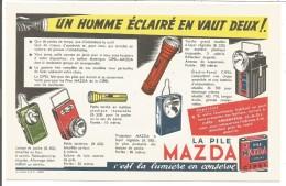 BUVARD LES PILES MAZDA - Blotters