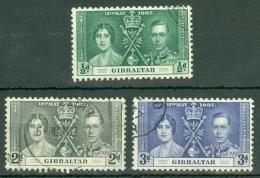 Gibraltar: 1937   Coronation     Used - Gibilterra