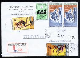 A4109) Mali R-Bank-Brief Von Bamako 4.9.72 Nach Düsseldorf - Mali (1959-...)