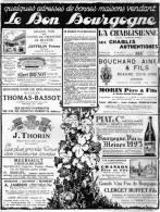 Beaune - Savigny-les-Beaune - Chablis - Gevrey-Chambertin - Nuits-Saint-Georges - Mâcon - Meursault - Volnay - Publicités