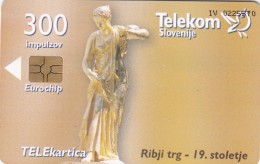 SLOVENIA SLOVENIJA PHONECARD 2006 RIBJI TRG LJUBLJANA VODNJAK   VODNJAKI  TELEKOM FOUNTAIN WATER WELL CAT.NO. 695 - Slovenia