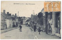 Cpa Authon - Rue Principale - France