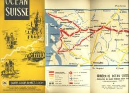 Dépliant Touristique Océan Suisse Itinéraire - 10,5 X 23,5 - 7 Volets - - Dépliants Touristiques
