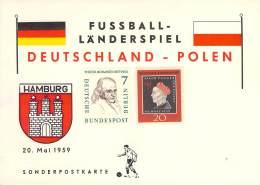 R Michel # 307 Und Berlin 163 Sonderpostkarte Fussbal Landerspiel Deutschland-Polen - Covers & Documents