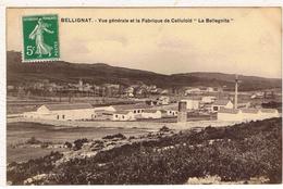 """01BEL3- BELLIGNAT - Vue Générale , Et  La Fabrique De Celluloïd , """" La Bellegnita """" - France"""