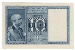 10 LIRE IMPERO 1935  SUP/FDS LOTTO 1390 - [ 1] …-1946: Königreich