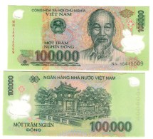 Vietnam Viet Nam 100000 Dong Plimer Q.fds/fds ( In Box ) - Viêt-Nam