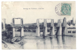 2 Cpa Barrage De Tuilières, Côté Est // Usine Hydro-électrique ...état Des Travaux - Autres Communes