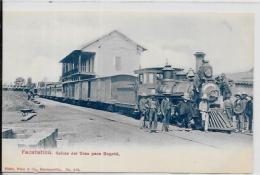 CPA Colombie Colombia Train Locomotive Gare Chemin De Fer Facatatica Bogota Non Circulé éditeur Price Barranquilla - Kolumbien