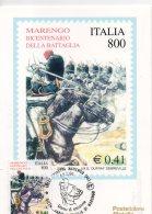 ITALIA 2000 - Cartolina Maximum  BICENTENARIO BATTAGLIA DI MARENGO, Con Annullo Speciale FDC. - Cartes-Maximum (CM)