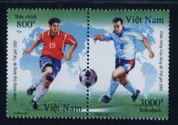Vietnam Viet Nam MNH Perf Withdrawn Stamps In Se-tenant 2001 : Wold Cup Football (Ms869) - Viêt-Nam