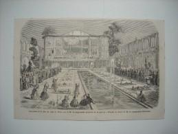 GRAVURE 1860. FIANCAILLES DE LA FILLE DU SHAH DE PERSE AVEC LE FILS DU SEPH-SABAR, MINISTRE DE LA GUERRE. - Stiche & Gravuren