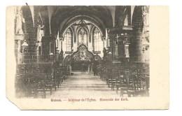 K32. SICHEM  -  Binnenste Van De Kerk  - Kaart  Licht Beschadigd! - Belgium