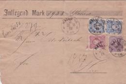 ALLEMAGNE 1878 LETTRE DE HALLE - Briefe U. Dokumente