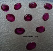 Lot De 1 Rubis Rouge Taille Ovale 4,5 Mm 0,35 Carat Pierre Précieuse Joaillerie Dit De Synthèse - Ruby
