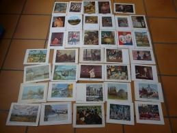 Lot De 37 Cartes à Volet Reproduction Tableau Peintres Célébres Matisse Ingres Cezanne Picasso Lautrec Van Gogh - Ansichtskarten