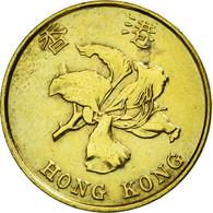 Monnaie, Hong Kong, Elizabeth II, 10 Cents, 1994, TTB+, Brass Plated Steel - Hong Kong