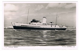 RB 1112 -  Raphael Tuck Real Photo Postcard - P & A Campbell Ship - Paddlesteamer P.S. Glen Usk - Paquebote