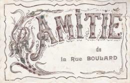 PARIS  14ème  - Amitié De La Rue Boulard  ( Adressée à Monteloup Par Bruyères Le Châtel ) - District 14