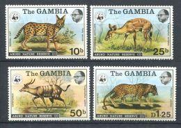 171 GAMBIE 1976 - Yvert 330/33 - WWF Faune Felin - Neuf ** (MNH) Sans Trace De Charniere - Gambie (1965-...)