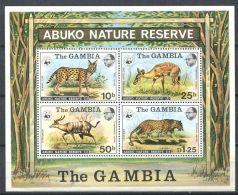 171 GAMBIE 1976 - Yvert BF 2 - WWF Felin Antilope - Neuf ** (MNH) Sans Trace De Charniere - Gambie (1965-...)