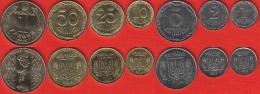 Ukraine Set Of 7 Coins: 1 Kopiyka - 1 Hryvnia 2012-2015 UNC - Ucrania