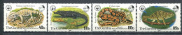 171 GAMBIE 1981 - Yvert 431/34 - WWF Reptile Crocodile Serpent - Neuf ** (MNH) Sans Trace De Charniere - Gambie (1965-...)