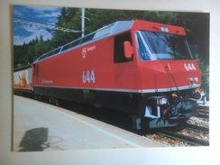 5649 - Suisse Rhätische Bahn (RhB)   Automotrice électrique  Gm 4/4 III Savognin  (Format 10 X 15) - Trains