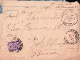 BUSTA POSTA MILITARE N.203 DEL 1940 P.N.F. DA CHIAPPERA CUNEO ALPINO IN PARTENZA PER LA RUSSIA - Documenti