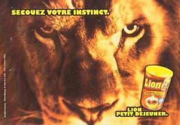 LION        H3        Publicité.Lion Petit Déjeuner ( Nestlé ) - Lions