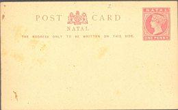 NATAL, 1891 1d Red Postcard, Unused, Fine - Zuid-Afrika (...-1961)