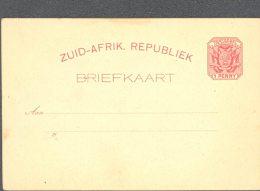 TRANSVAAL, 1894 1d Postcard Red (pole On Wagon) Unused, Fine - Zuid-Afrika (...-1961)