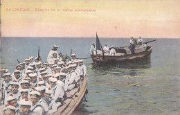 Be - Cpa SALONIQUE - Exercice De Tir Contre Submersibles (marine) - Grèce