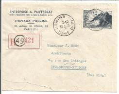 N°764 SEUL SUR LETTRE RECOMMANDEE DE PARIS 49 DU 13/11/1947 - Postmark Collection (Covers)