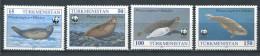 171 TURKMENISTAN 1993 - Yvert 40/43 - WWF Mammifere Marin - Neuf ** (MNH) Sans Trace De Charniere - Turkménistan
