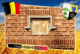 Postcard, Municipalities Of Belgium, Court-Saint-Etienne, Walloon 30 - Cartes Géographiques