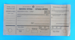 KINGDOM OF YUGOSLAVIA - VINTAGE POSTAL MONEY ORDER - Complette , Not Used * Mandat Postal Postanweisung Vaglia Postale - Unclassified