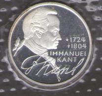 GERMANIA 5 DEUTSCHE MARK 1974 IMMANUEL KANT 1724 - 1804 AG SILVER - [10] Commemorative