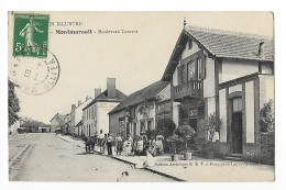 MONTMARAULT  (cpa 03)  Boulevard Tourret  - Café , Belle Animation  -  # Rare #   -L 1 - Other Municipalities