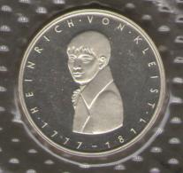GERMANIA 5 DEUTSCHE MARK 1977 HEINRICH VON KLEIST AG SILVER - [10] Commemorative