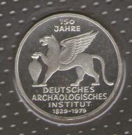 GERMANIA 5 DEUTSCHE MARK 1979 150 JAHRE DEUTSCHES ARCHAOLOGISCHES INSTITUT AG SILVER - [10] Commemorative