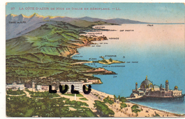 DEPT 06 : En Aéroplane, La Cote D Azur De Nice En Italie - Non Classés