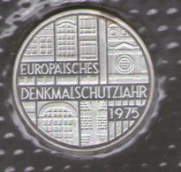 GERMANIA 5 DEUTSCHE MARK 1975 EUROPAISCHES DENKMALSCHUTZJAHR AG SILVER - [10] Commemorative
