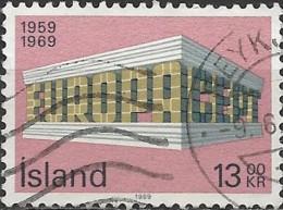 ICELAND 1969 Europa - 13k  Colonnade FU - Oblitérés
