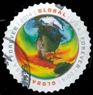 Etats-Unis / United States (Scott No.4893 - Map Of Sea Surface Temperatures) (o) - Gebruikt