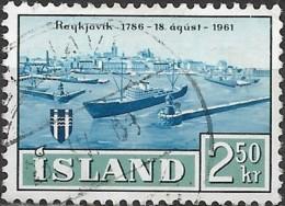 ICELAND 1961 175th Anniv Of Reykjavik - 2k50 Reykjavik Harbour FU - 1944-... Republique